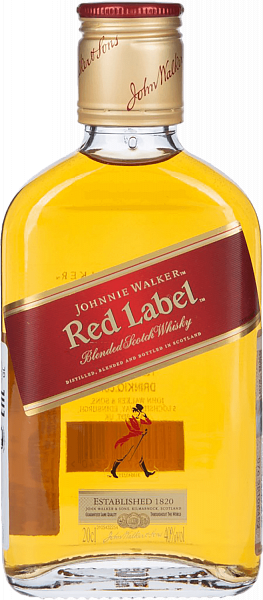 Johnnie Walker Red Label Blended Scotch Whisky, 0.2л