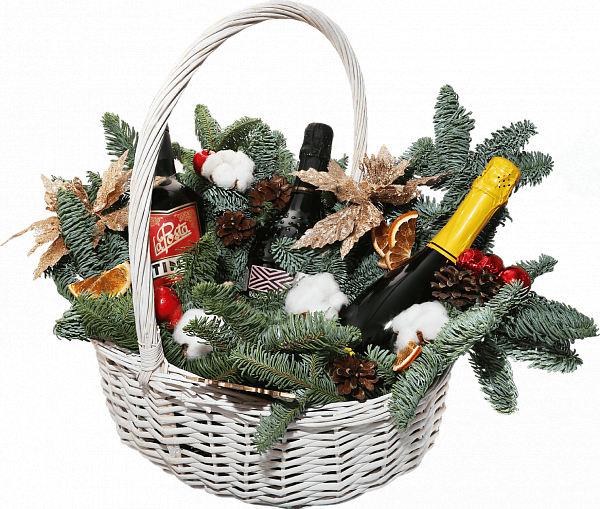 Willow Vine large Christmas Gift Basket